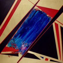 BRADY LEGLER painting: Spark 60x60 Acrylic on Canvas